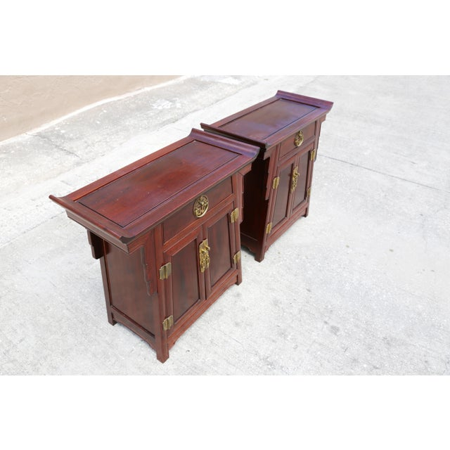 1980s Chinoiserie Carved Wood Pagoda Sidetables - a Pair For Sale - Image 10 of 13