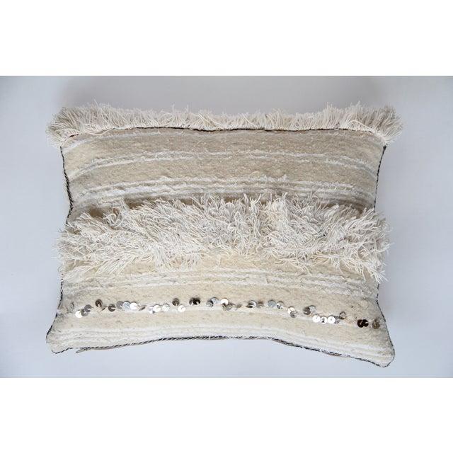 Vintage Moroccan Wedding Handira Pillow - Image 2 of 5