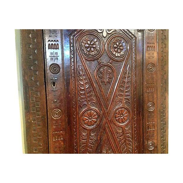 1709 Carved English Corner Cabinet - Image 4 of 4