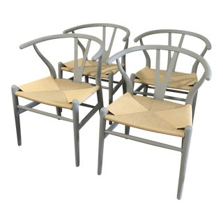 Set of 4 Wishbone Chairs by StilnovoUSA For Sale