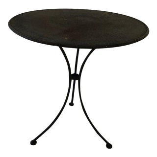 French Rustic Steel Table For Sale