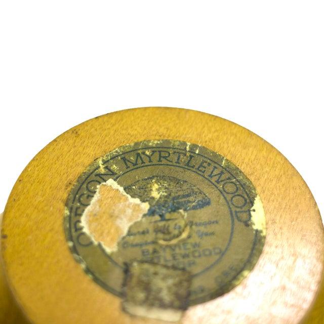 Mid-Century Oregon Myrtlewood Bowl For Sale - Image 4 of 4