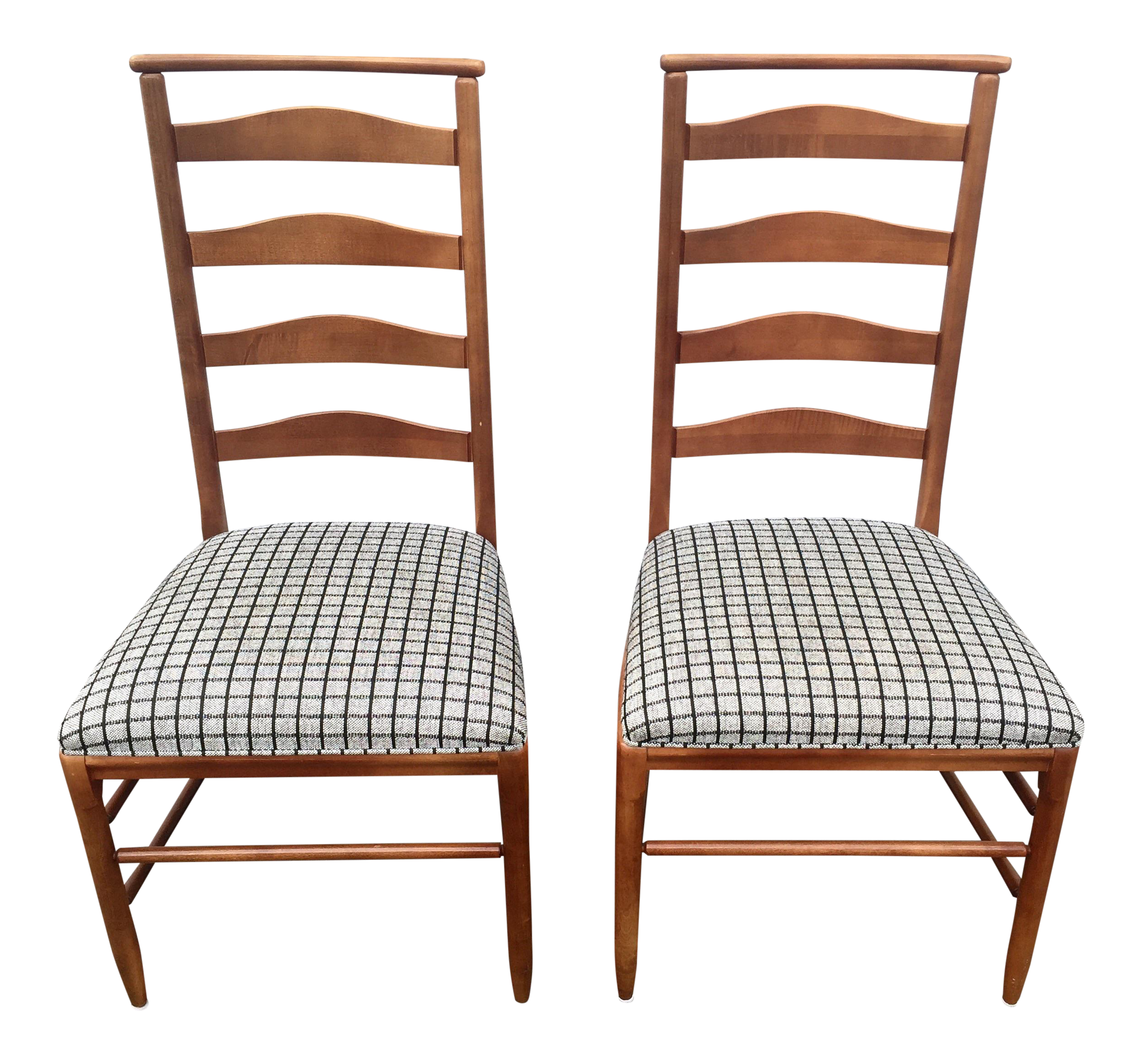 Vintage Nichols U0026 Stone Ladder Back Chairs   A Pair   Image 1 ...