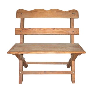 Country Outdoor Wood Chair / Bench For Sale