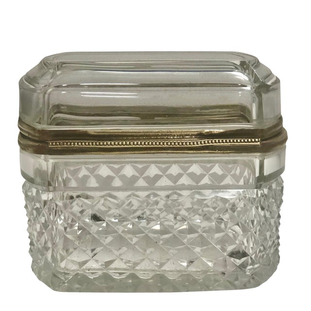 Baccarat French Crystal Box For Sale - Image 4 of 6