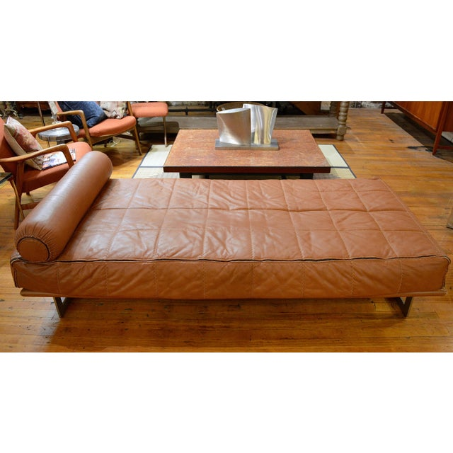 Mid Century Italian Modernist Faux Leather Daybed For Sale - Image 4 of 13