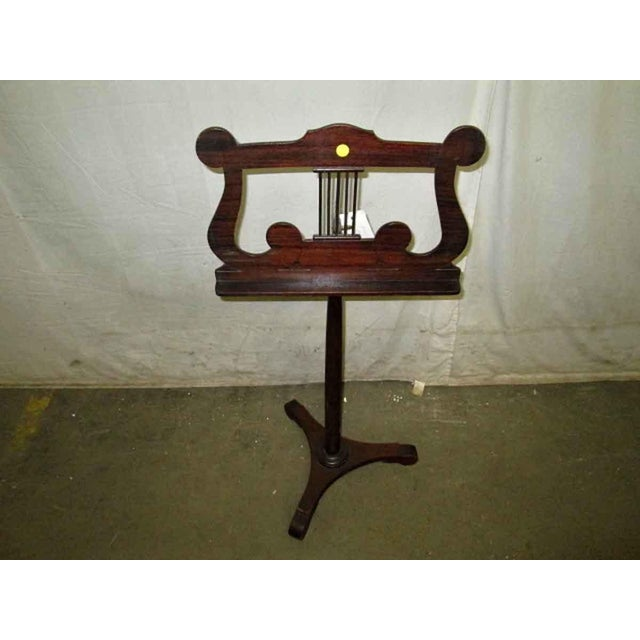 Wood Tindale Carved Mahogany Music Stand For Sale - Image 7 of 7