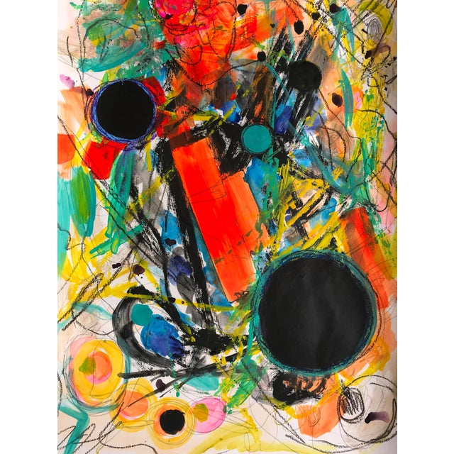Abstract Expressionist Painting by Tony Marine For Sale