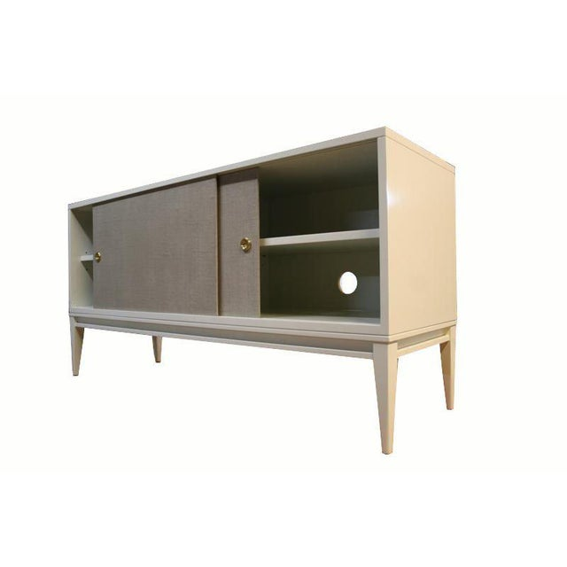Customizable Bishop Lacquered Linen Door Console - Image 6 of 10