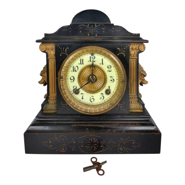 Decorative Arts Vintage Mantle Clocks Ansonia  Clock Co New York Clear And Distinctive