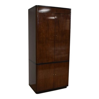 Drexel Modern Walnut Bar Cabinet