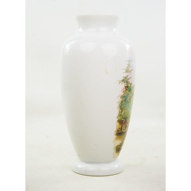 19th C. Victorian Hand Painted Bristol Vase For Sale In Atlanta - Image 6 of 9
