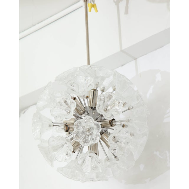 Contemporary Italian Floral Glass Sputnik Chandelier For Sale - Image 3 of 11