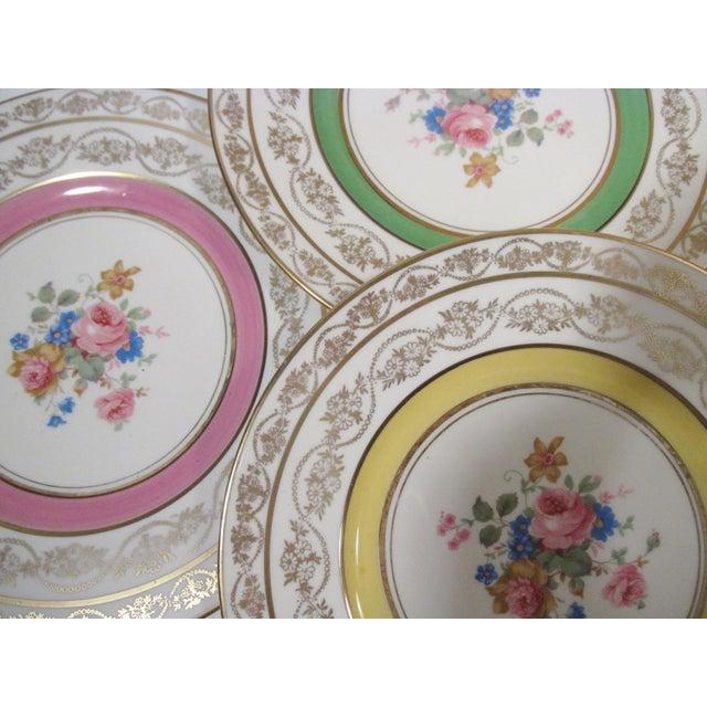 Edgerton Pickard M&r Marks & Rosenfeld Pink Rose Spray Dessert Plates - Set of 24 For Sale In Denver - Image 6 of 11