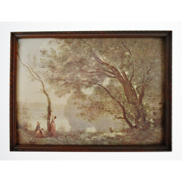 Impressionism Jean Baptiste Camille Corot Framed Prints - A Pair For Sale - Image 3 of 10