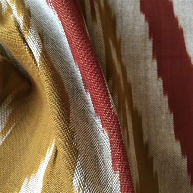 Handwoven Uzbek Ikat Fabric - 3 Yards - Image 5 of 10