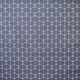Image of True Blue Criss Cross Fabric Panel by Ferrick Mason For Sale