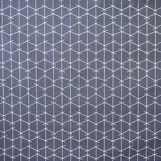 True Blue Criss Cross Fabric Panel by Ferrick Mason For Sale