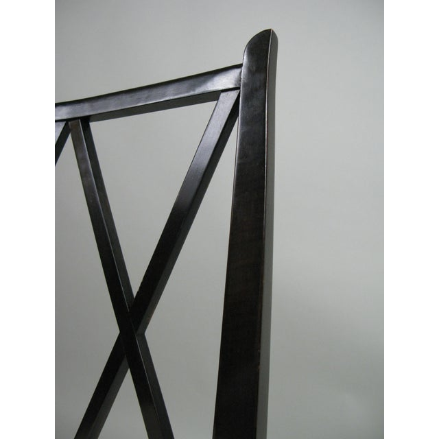 Wood 1950s Set of Six 'Double X' Dining Chairs by Tommi Parzinger for Parzinger Originals For Sale - Image 7 of 11