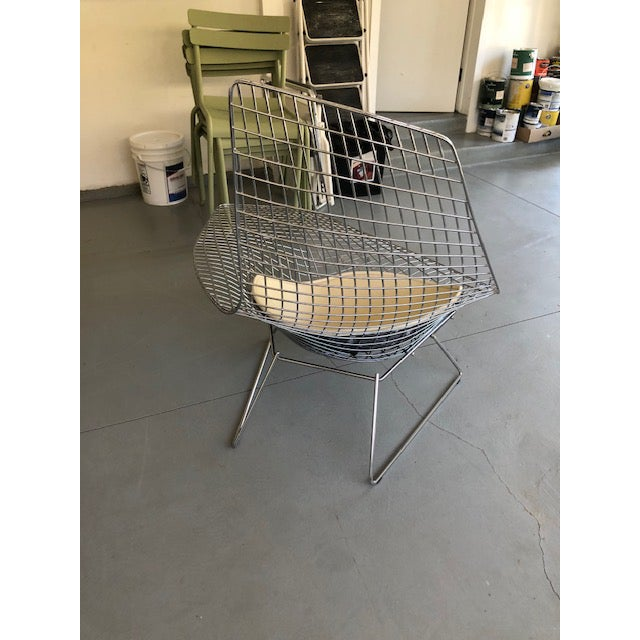 2000 - 2009 Bertoia for Knoll Asymmetric Chaise For Sale - Image 5 of 8