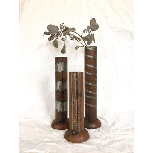 1990s 1990s Industrial Modern Vases - Set of 3 For Sale - Image 5 of 10