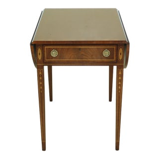 Wellington Hall Federal Style Inlaid Mahogany Pembroke Table For Sale