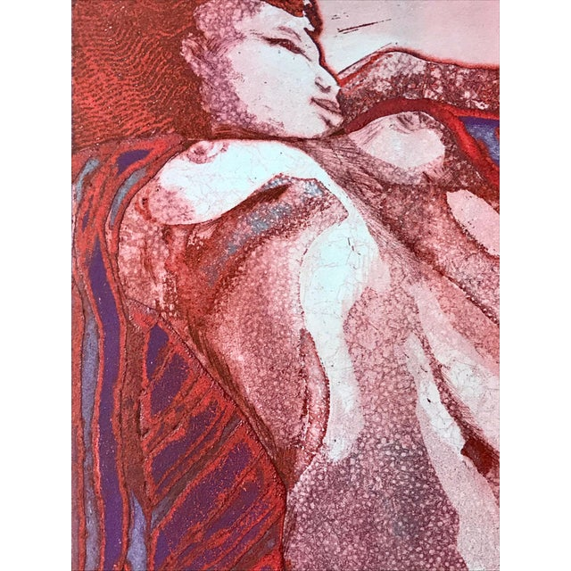 """Vintage Modernist Nude Etching """"Joseph Had a Dream"""" by Ruth Weisberg 1967 For Sale - Image 4 of 9"""