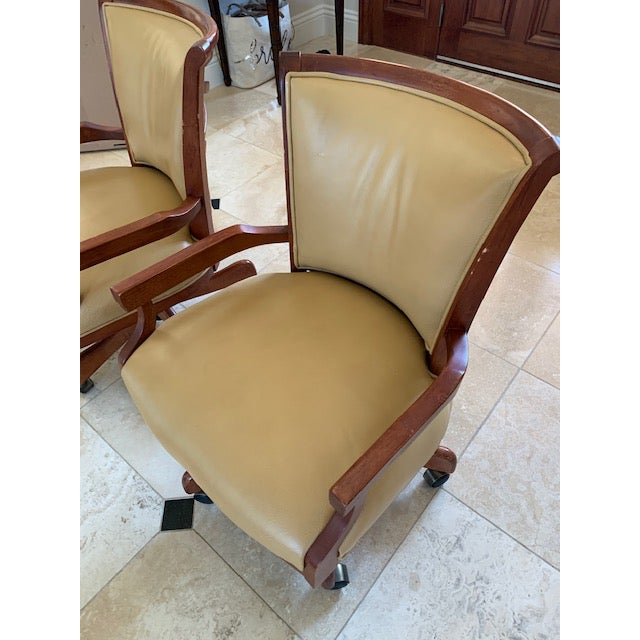 English Sam Moore Excaliber Leather Swivel Office Chairs - a Pair For Sale - Image 3 of 12