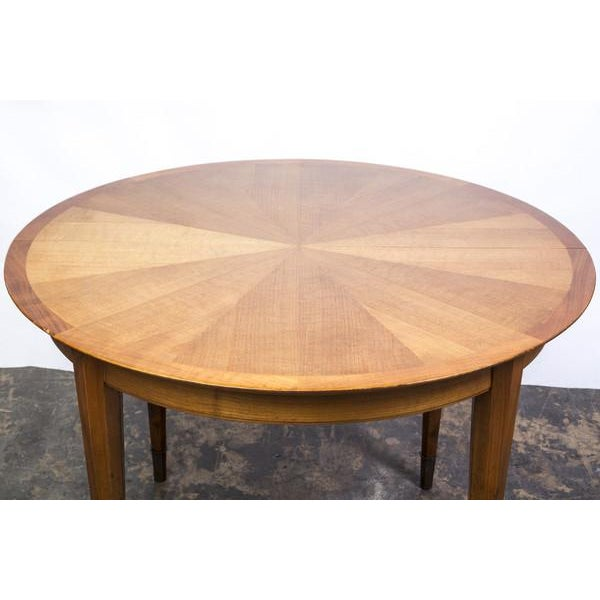 Deco Sycamore Sunburst Dining Table by Dominique - Image 3 of 5