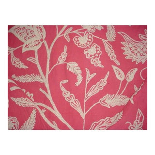 Lee Jofa Jesi Crewel Orchid Pink Wool Crewel Upholstery Fabric - 15 Yards For Sale