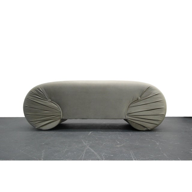 Beautiful, newly upholstered end of the bed or entry bench. Excellent condition. No imperfections. All new foam and...