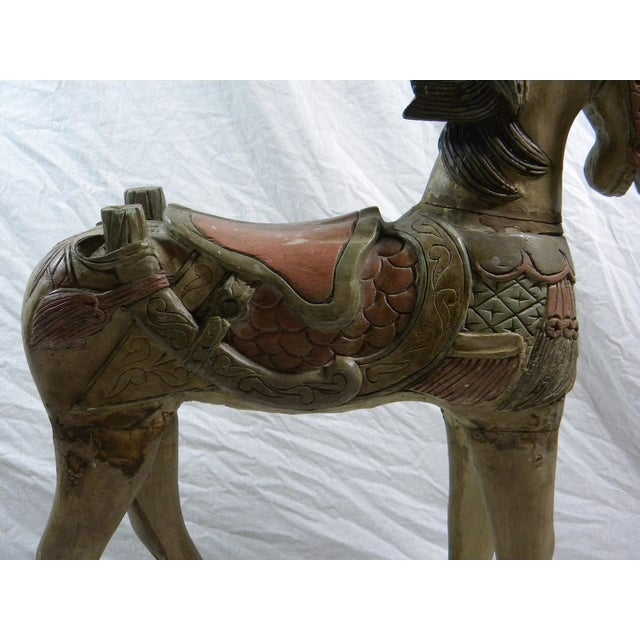 Large Indonesian Carved Horse - Image 3 of 6