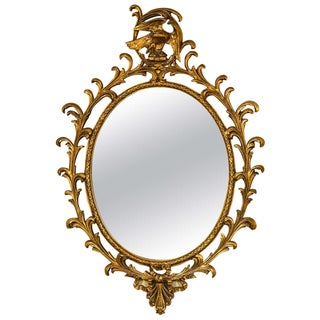 Georgian Style Gilt Carved Mirror For Sale