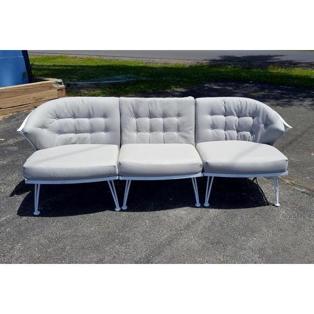 1950s Vintage Woodard Three Piece Iron Sofa For Sale - Image 5 of 7