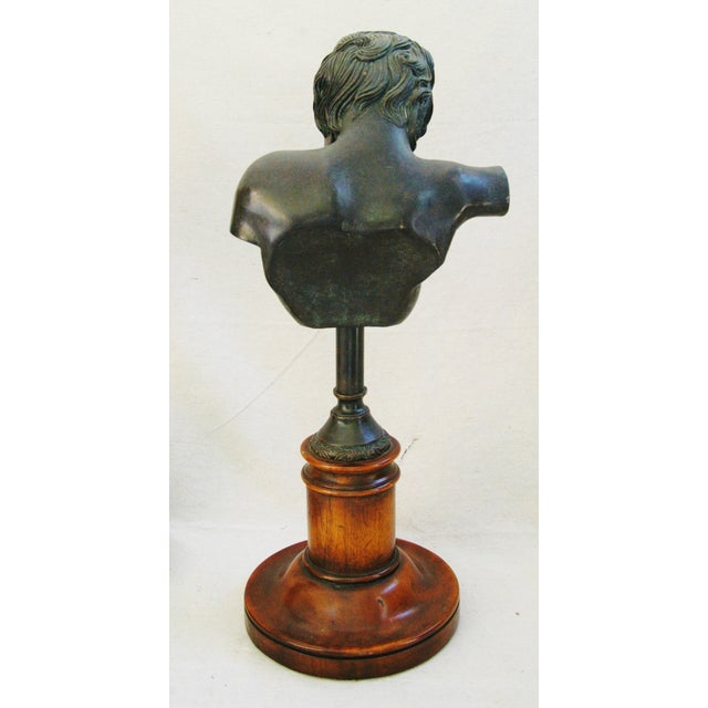 1940's English Bronze Busts With Bases - A Pair - Image 9 of 11