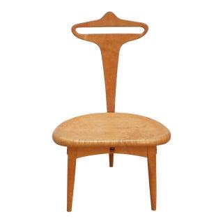 Post Modern Memphis School Valet Chair - Birdseye Maple For Sale