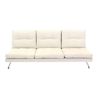 Mid-Century Modern Chrome Frame Sofa For Sale