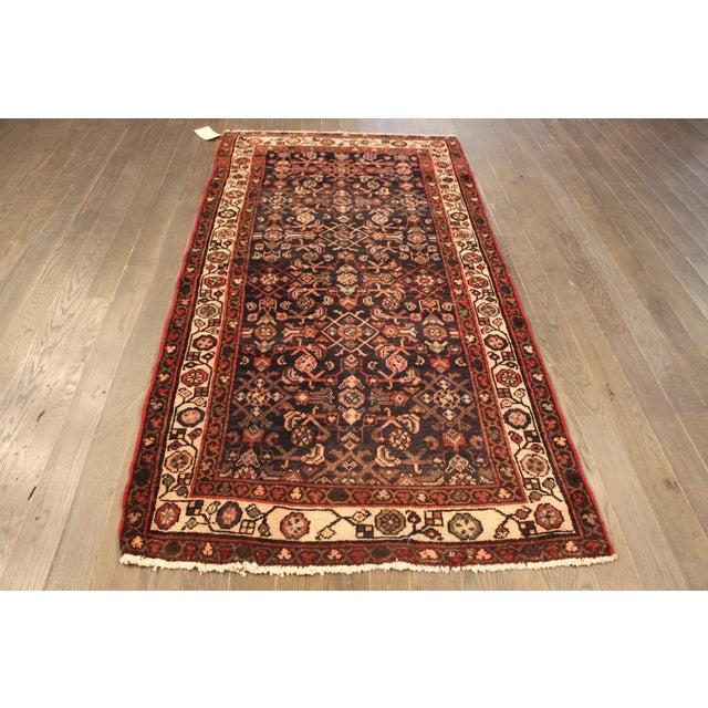 """Vintage Persian Wool Rug - 3'2"""" X 6'5"""" - Image 2 of 4"""