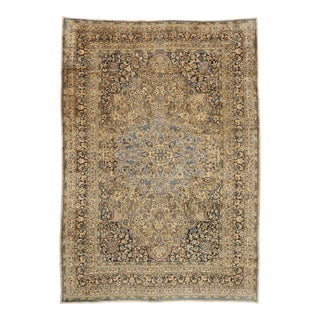Antique Persian Mashhad Palace Size Rug, 12'10 X 18'05 For Sale