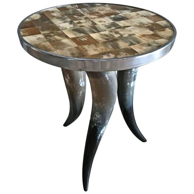 Contemporary Bones and Horns Side Table For Sale In Las Vegas - Image 6 of 6