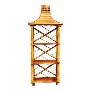 Hollywood Regency Chinese Chippendale Wall Shelf For Sale