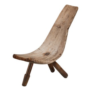 Curved drift wood chair, Brazil