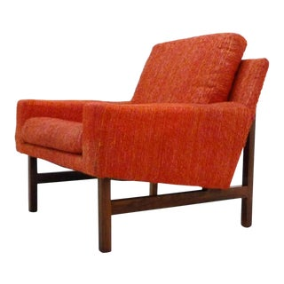 Sven Ellekaer Danish Modern Rosewood & Upholstered Lounge Chair