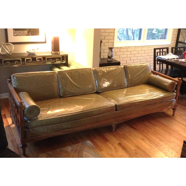 American of Martinsville Burl Panel Arm Sofa - Image 3 of 10