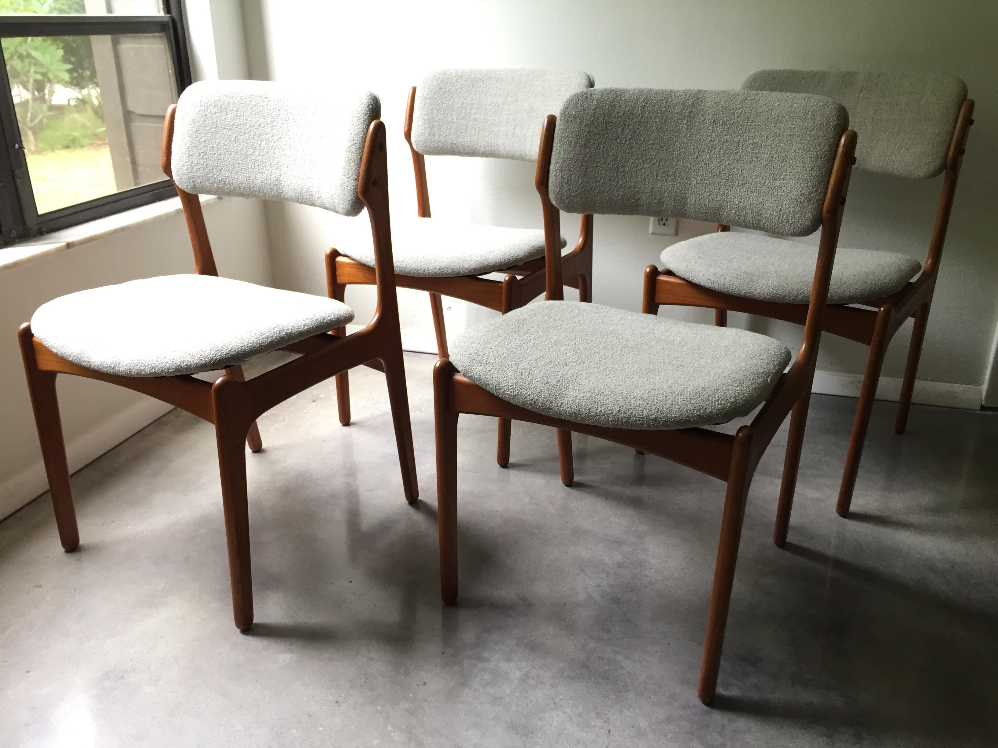 Simple Elegant Vintage Erik Buck O D Mobler Danish Dining Chairs Set of 4 Image 11 of Awesome - floating chair for bedroom Fresh