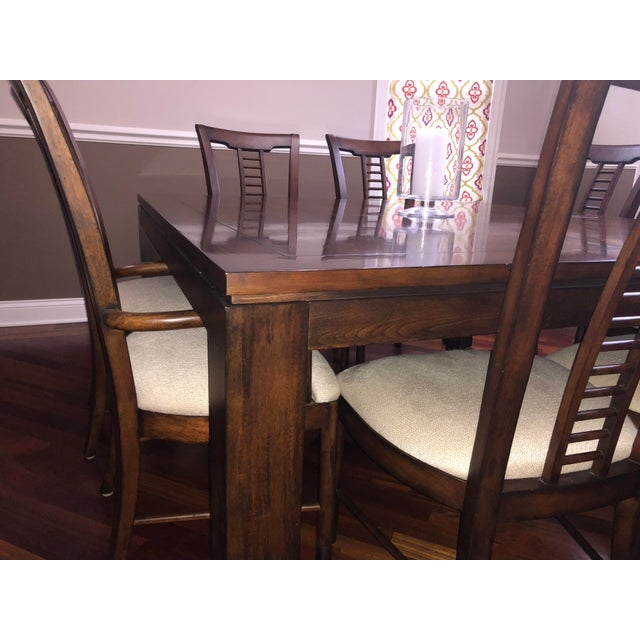 Square Table With Spindle Back Chairs Dining Set For Sale In Chicago - Image 6 of 8