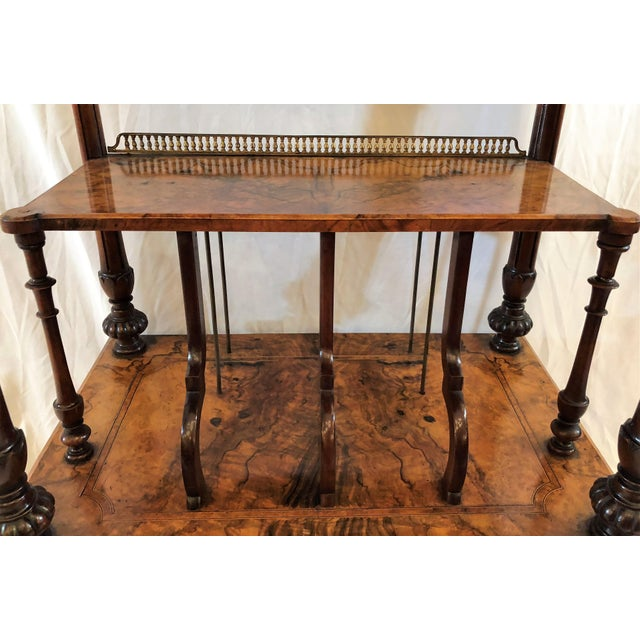 Antique English Walnut Canterbury and Music Stand, Circa 1870-1880. For Sale In New Orleans - Image 6 of 7
