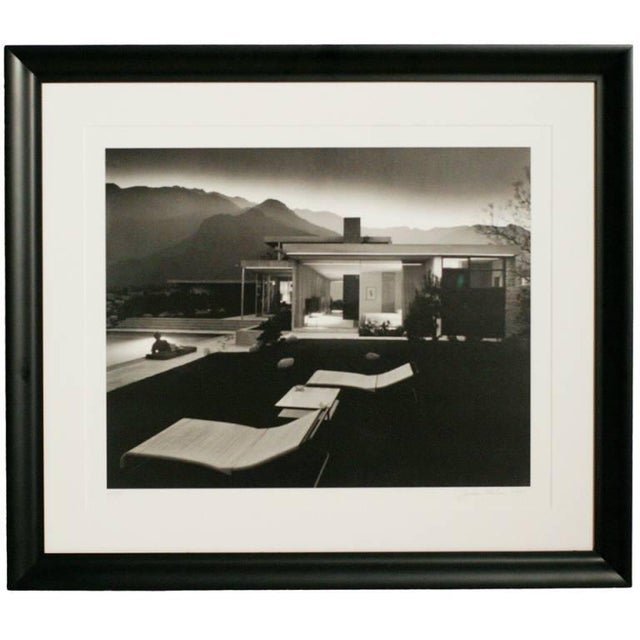 "Julius Shulman ""1947 Kaufman House Palms Springs"" Print, Signed - Image 2 of 3"
