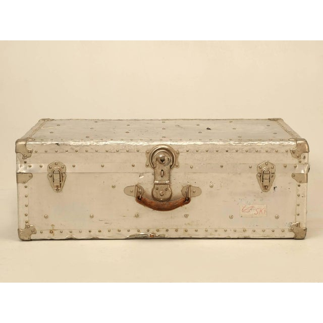 French Metal Trunk For Sale - Image 10 of 10