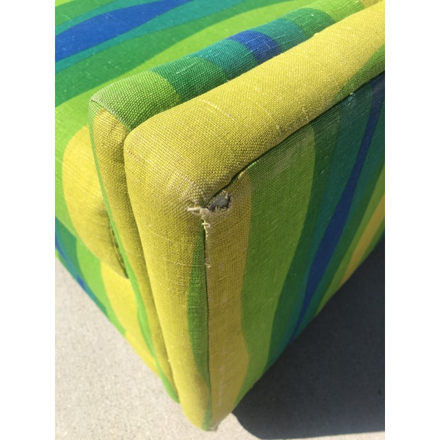 1960s Mid-Century Vintage Pull-Out Bed Love Seat For Sale - Image 5 of 12